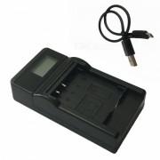 Ismartdigi 50B LCD cargador de bateria de la camara USB para Olympus Li-50B