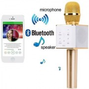 CP Bigbasket Portable Wireless Karaoke Microphone Inbuilt Speaker Microphone(Golden)