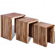 Nesting Tables Reclaimed Teak Set of 3