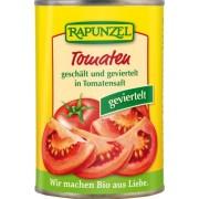 Rapunzel bio Hámozott, negyedelt paradicsom paradicsomlében, 400 g