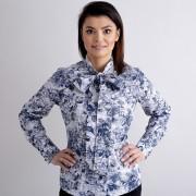 Női szürke sötét kék ing Willsoor virágos / növényes 10470