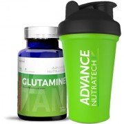 Advance Nutratech Glutamine supplement powder 100gm flavored with Shaker