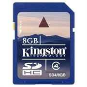 Kingston SD 8GB -Class 4, Retail Box , Limited