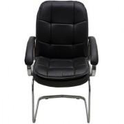 Fabsy Interior - Fabsy Interiors Premium Finish Revolving Chair Chrome Visitor