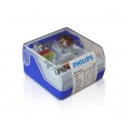 Philips 55007SKKM - Bet becuri auto de rezervă H7/H1 12V
