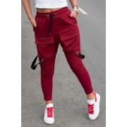 Pantaloni cu Bretele Dama Bordo EP5