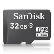 Карта памет SanDisk MicroSDHC 32GB + адаптер, Class 4 - SD-SDQB-032G-B35