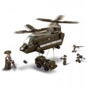 Stavebnice Sluban Army trasportní vrtulník s jeepem M38-B6600