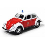 1967 Volkswagen Beetle Kafer, Zurich Switzerland Fire Dept., Orange & White Greenlight 12854 1/18 Scale Diecast Model Toy Car