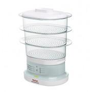 Уред за готвене на пара, Tefal, 650W, 3 plastic baskets, 4.3/6.5l capacity, Aquatimer, sauce tray, White (VC130130)