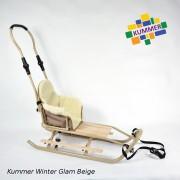 Saniuta pentru copii Kummer Winter Glam Extra Bej