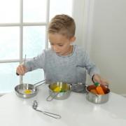 Accesorii pentru bucatarie Deluxe Cookware Set With Food - Kidkraft