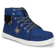NYN Men's Blue Synthetic Casual Boots