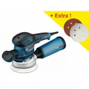 Ponceuse excentrique Bosch GEX 125-150 AVE L-Boxx + 50 abrasifs 060137B103