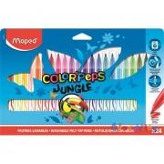 "Filctoll készlet 24db-os MAPED ""Color Peps Jungle"" kimosható"