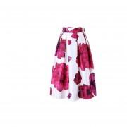 Impresión Digital Faldas Plisadas Imitación De Satén -15#