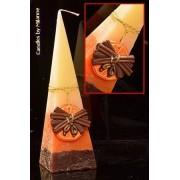 Designkaarsen com Sinaasappel-Kaneel, Piramide kaars, 33 cm - kaarsen