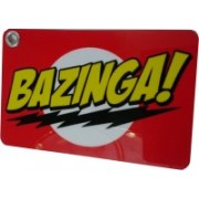 Thoughtroad Bazinga Luggage Tag(Red, Yellow)