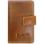 EL Mio Brand New Stylish, Classic and Royal Pure Genuine Vintage Tan Leather Antique 2+ 10 Card Holder(Set of 1, Tan)
