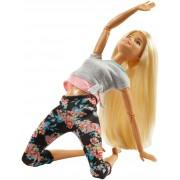 Mattel Barbie Bambola con 22 Punti Snodabili con Capelli Biondi e Abiti ...