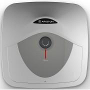 Boiler Ariston Andris RS 15 EU, 1200 W, Presiune Maxima 8 Bari, Rezervor 15 Litri, Control Mecanic, Alb cu Gri