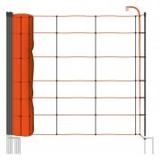 VOSS.farming farmNET 50 m sheep nettingwith vertical struts, 90 cm, 2 spikes, orange