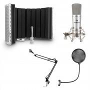 Auna MIC-920, USB, микрофонен комплект, V5, микрофон, въртящо се рамо, POP филтър, бленда (34262+30214+28565)