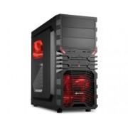 Kućište Sharkoon VG4-W Red, crna, ATX, 24mj (4044951016204)