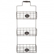 Maisons du Monde Wall storage with 3 metal baskets H 60 cm