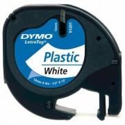 Dymo Letratag DY91201 feliratozószalag, 12 mm, műanyag, fehér