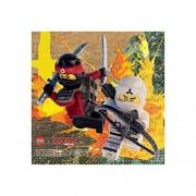 Amscan 16 Lego Ninjago Película Childrens Fiesta de cumpleaños 12,7 cm Beverage Servilletas
