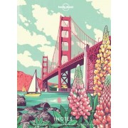 Reisdagboek Notebook with Illustrated Cover America   Lonely Planet