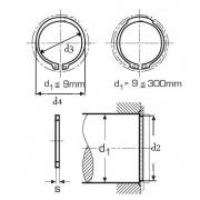 pojistný kroužek 80x2.5 1.4122 NEREZ pro hřídel, vnější DIN 471