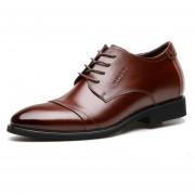 Zapatos De Vestir Hombre Plantilla Alta - Marrón