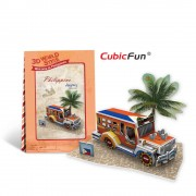 CubicFun Jeepney Filipine Puzzle 3D 39 de piese