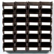 LocBin 3-220BRWS Mueble de pared (26 piezas), color café