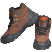 Camro Men's Brown Black Stylish Synthetic Hiking Training Outdoor Shoes