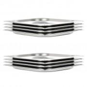 vidaXL 8 db rozsdamentes acél Gasztronorm edény GN 1/2 20 mm