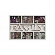 Geen Multi fotolijst familie wit 6 fotos