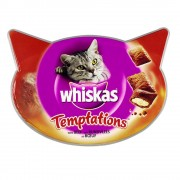 72 g Whiskas Temptations de pollo y queso snacks para gatos