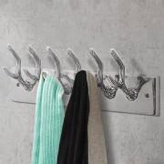 vidaXL Закачалки за палта за гардероб, 2 бр, сребристи, алуминий