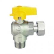 DLL-MBM rubinetto valvola a sfera 1/2'' m/f gir. a squadra en 331 GAS