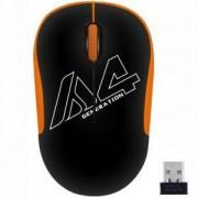 Оптична мишка A4tech G3-300N V-Track, USB, Черен/Оранжев, A4-MOUSE-G3-300N-BO