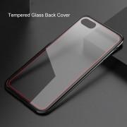 Funda Case IPhone 8 Plus Transparente De Cristal Templado-Negro