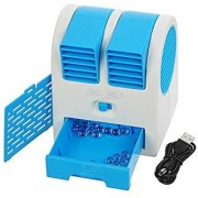 shopelven Mini USB Fragrance Air Conditioner Cooling Fan Cooling Portable Desktop Dual Bladeless Air Cooler
