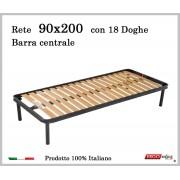 ErgoRelax Rete per materasso a 18 doghe in faggio Con Barra Centrale 90x200 cm. 100% Made in Italy