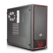 Carcasa Cooler Master MasterBox E500L, MidTower, Panou lateral transparent (Negru/Rosu)