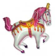 "Fólia lufi, nagyforma, cirkuszos ló, pink, 24"""