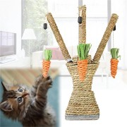 Pet Cat Toys Scratching Post Interactive Tree Tower Shelves Activity Climbing Frame Sisal Rope