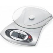 Cantar de bucatarie Medisana KS220 40467 5 kg Afisaj LCD Ceas si termometru Argintiu